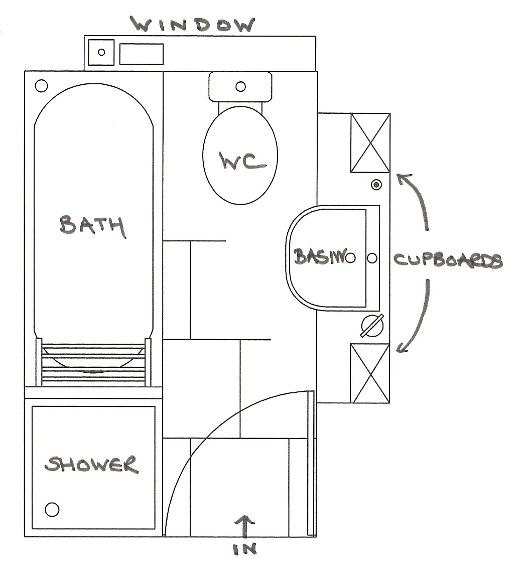 Bathroom Floor Plans Additionally Small Narrow Bathroom Floor Plans In